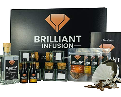 BRILLIANT INFUSION | Komplettes 3 in 1 DIY Whisky-Tasting Probier-Set | MIT ALKOHOL (45% vol. alc.)...