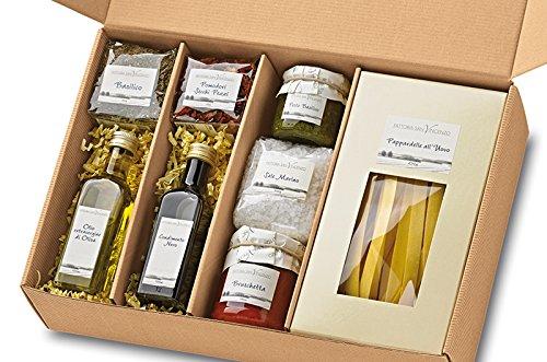 Geburtstagsgeschenk für Frauen Geschenkkorb Cucina Italiana Geschenk-Set Italien Präsentkorb mit...