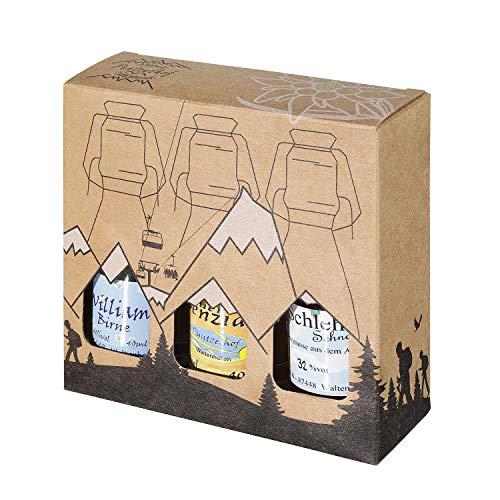 Geschenkset aus dem Allgäu | 3 x 40ml Likör und Spirituosen | Hausgemachte Delikatessen in...
