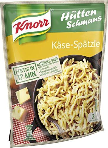 Knorr Hüttenschmaus Schwäbische Käse-Spätzle Nudel-Fertiggericht 2 Portionen (1 x 500 ml)