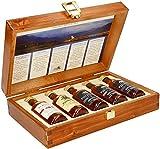 Pràban na Linne Whisky Probier- und Geschenkset (5 x 0.05 l): 5 x 50 ml in hochwertiger Holzkiste  ...