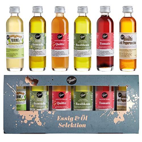 Gepp's Feinkost Essig und Öl Probier- und Geschenkset | 6 hochwertige Essige & Öle in edler...