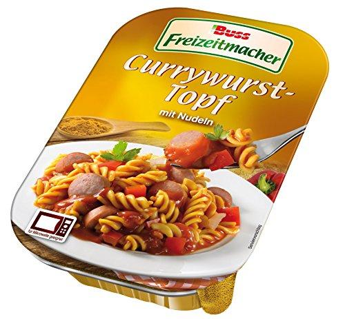 Buss Currywurst-Topf mit Nudeln, 12er Pack (12 x 300 g)