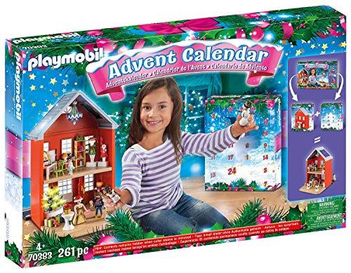 PLAYMOBIL Großer Adventskalender 70383 Weihnachten im Stadthaus, Inklusive Haus, Für Kinder ab 4...