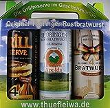 Original Thüringer Rostbratwurst im Geschenkkarton 3x 400g (12 Rostbratwürste)
