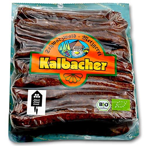 Schwarzwälder BIO Landjäger - 10 Paar - Kalbacher Rohwürste - Hoher Anteil mageres Rindfleisch -...