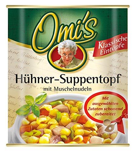 Buss Hühner-Suppentopf mit Muschelnudeln, 6er Pack (6 x 800 g)