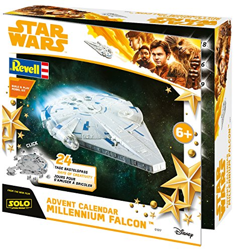 Revell Build&Play 01017 - Adventskalender Millennium Falcon, Star Wars, Disney SOLO - 24 Tage cooler...