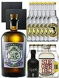 Gin-Set Monkey 47 Schwarzwald Dry Gin 0,5 Liter + Black Gin Gansloser Deutschland 5cl + Siegfried...