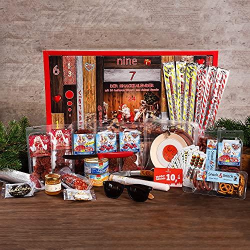Neu WURSTBARON® - Adventskalender mit Wurst-Kabeltrommel und vielen leckeren Salami Snacks…