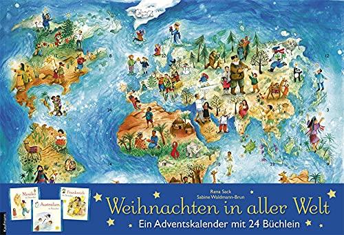 Weihnachten in aller Welt: Adventskalender mit 24 Büchern (Adventskalender mit Geschichten für...